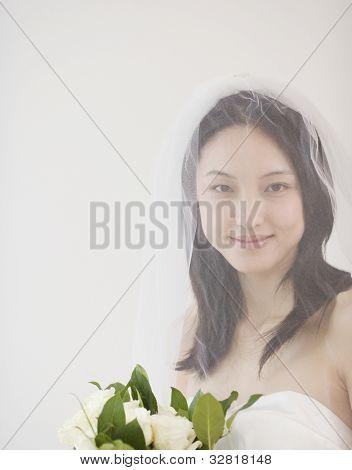 Portrait of Asian bride