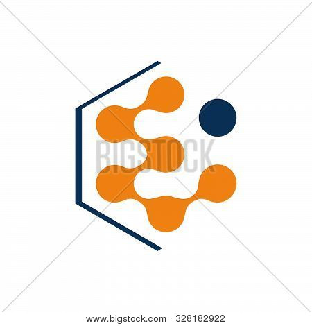 Abstract Neuron Cell Biotech Molecule Atom Nanotechnology Logo Vector Icon Illustration