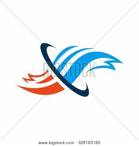 Abstract Heati And Cool Hvac Logo Design Vector Business Company