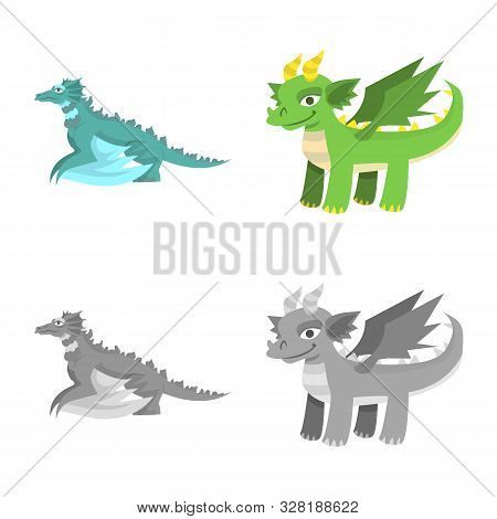 Vector Illustration Of Legend And Halloween Logo. Set Of Legend And History Stock Vector Illustratio