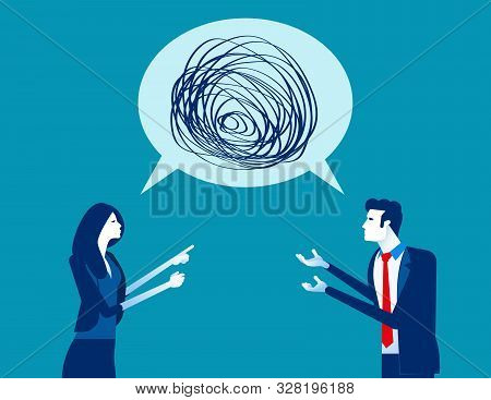 Business People Talking Nonsense Speech. Concept Business Vector, Bubble Speech, Meeting, Communicat