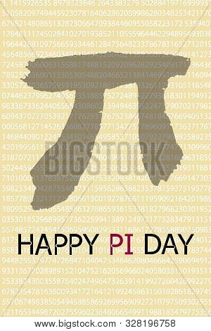 Happy Pi Day. March 14th. Constant Number Pi. Vector Illustration.