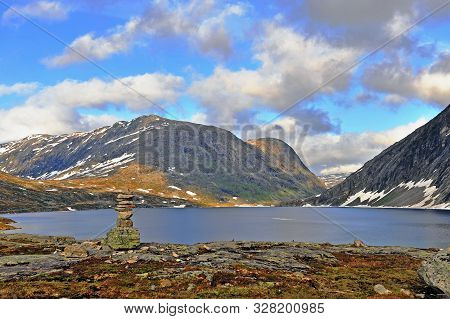 Beautiful Natural Landscape With The Stone Pyramid