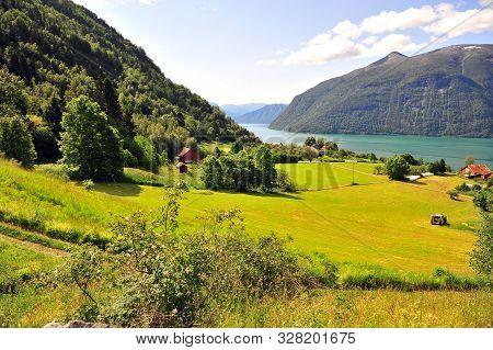 Beautiful Natural Landscape On Norwegian Fjords