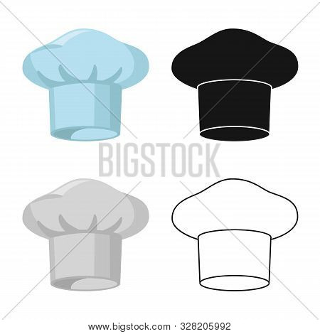 Isolated Object Of Confectioner And Hat Sign. Set Of Confectioner And Chef Vector Icon For Stock.