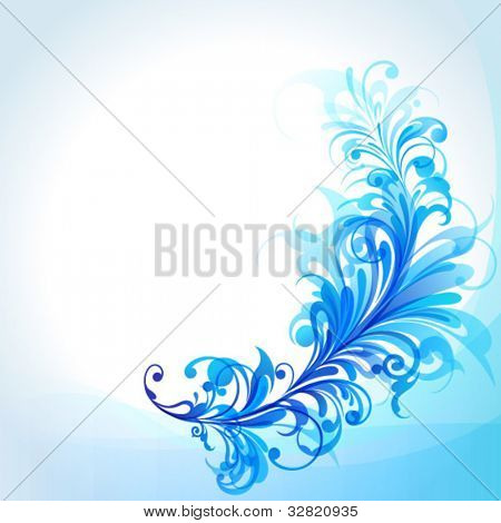 Abstract Blue Design Element, Vector Illustration