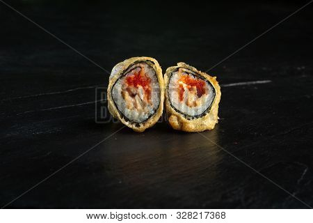 Pair Of Rolls Imperator Close-up On A Dark Background
