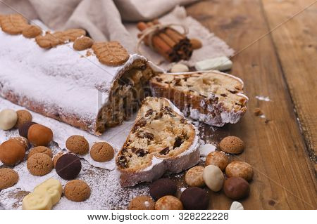 Traditional German Christmas Pastries, Miscellaneous Cookies And Chocolate For The Holiday. Christma