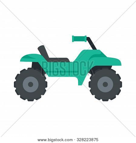 Dirt Tire Quad Bike Icon. Flat Illustration Of Dirt Tire Quad Bike Vector Icon For Web Design