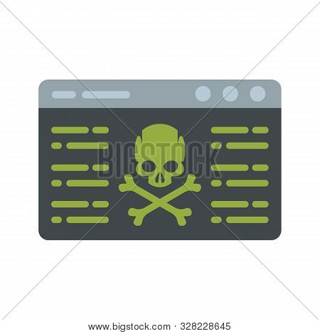 Virus Attack Icon. Flat Illustration Of Virus Attack Vector Icon For Web Design
