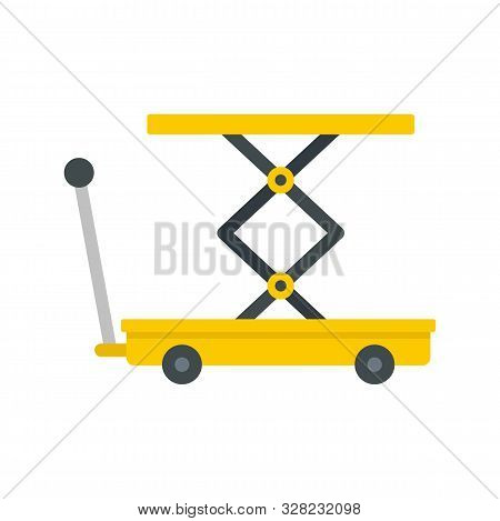Lift Cart Icon. Flat Illustration Of Lift Cart Vector Icon For Web Design