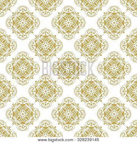 Classic Seamless Vector Pattern. Golden Orient Ornament. Classic Vintage Background. Orient Ornament