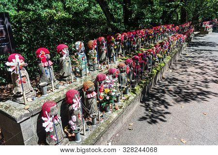 Tokyo, Japan, Asia - September 7, 2019 : The Guardian Deities Of Children At Zojoji Temple