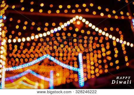 Abstract Background Of Diwali, Happy Diwali, Diwali Lighting Background, Deepawali, Bokeh Lights For