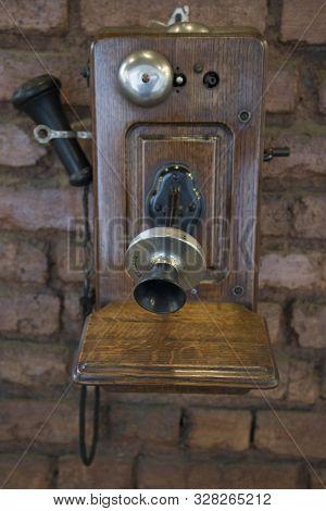 Sao Joao Del Rei, Minas Gerais, Brazil - March 05, 2016: Antique Telephone In The Sao Joao Del Rei R