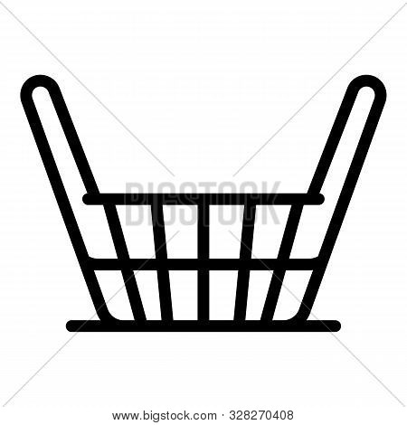Craft Wicket Icon. Outline Craft Wicket Vector Icon For Web Design Isolated On White Background