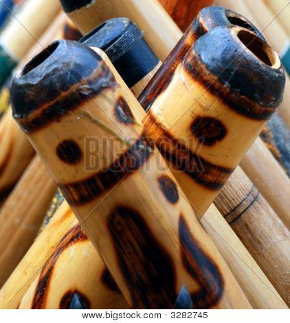 Didgeridoos Close Up