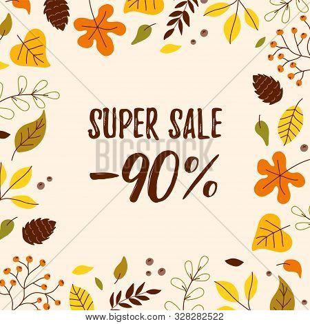 Cute Autumn Sale Vector Photo Free Trial Bigstock
