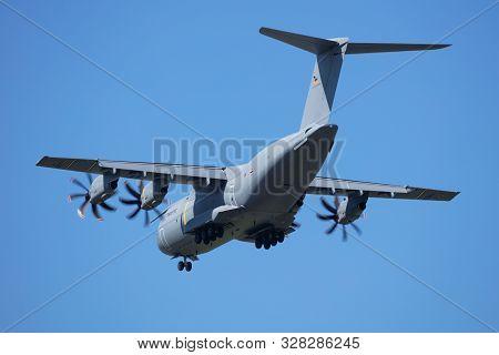 Zeltweg / Austria - September 5, 2019: German Air Force Luftwaffe Airbus Military A400m Atlas 54+19