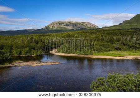 Beautiful View Of Gros Morne Mountain In Gros Morne National Park Of Newfoundland