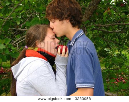 Young Lovers In The Forest