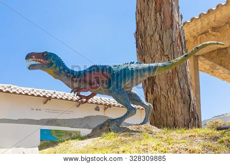 Sucre Bolivia September 27 Allosaurus Dinosaur Reproduction In The Cretaceous Park Located In Northe