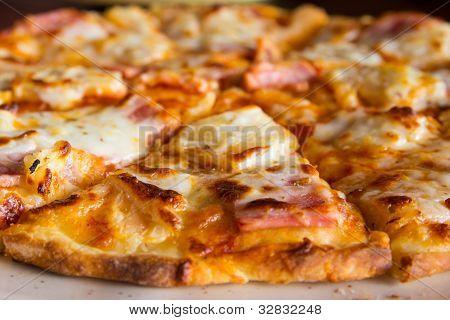 Close Up Pizza Hawaiian