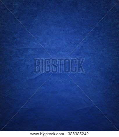 Blue Background Paper With Ripped Distressed Old Grunge Texture In Elegant Vintage Design