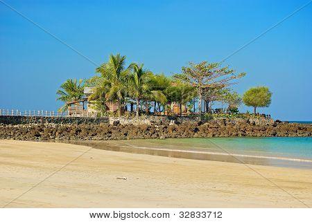 promontory on the beach