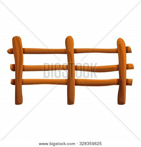 Farm Fence Icon. Cartoon Of Farm Fence Vector Icon For Web Design Isolated On White Background
