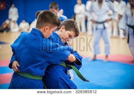 Kids And Children Martial Arts Sport Demonstration