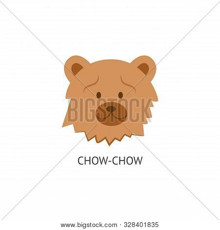 The Head With The Face Of A Fluffy And Woolly Dog Chow Chow.