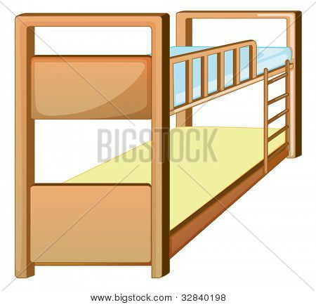 Illustration of an isolated bunk bed - EPS VECTOR format also available in my portfolio.