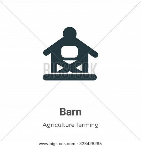 Barn icon isolated on white background from agriculture farming and gardening collection. Barn icon
