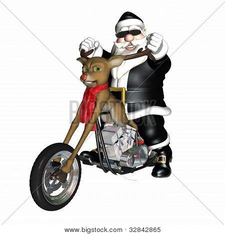 Santa's Reindeer Concept Chopper