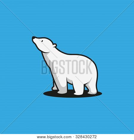 Bear, Bear logo, Bear images, Bear illustration, Bear design, Bear cartoon, Beer vector, Bear icon on blue background. Bear icon modern symbol for graphic and web design. Bear icon simple sign for logo, web, app, UI. Bear icon flat vector illustration, EP