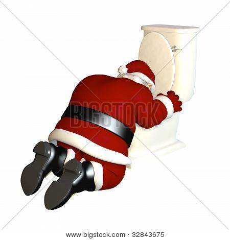 Santa's Sick From Too Much Eggnog