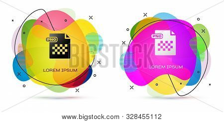 Color Png File Document. Download Png Button Icon Isolated On White Background. Png File Symbol. Abs