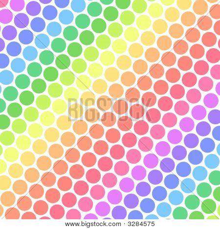 Pastel Rainbow Polka Dots