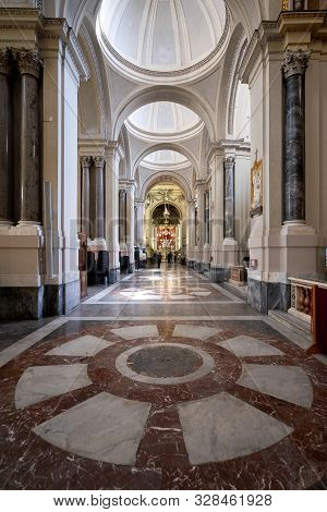 Palermo, Sicily - March 23, 2019:  The Interior View Of The Palermo Cathedral Or Cattedrale Di Paler