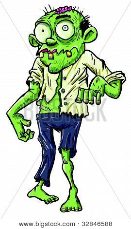 Zombie cartoon creature