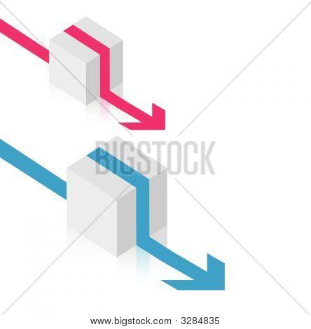 Cubes avec des flèches