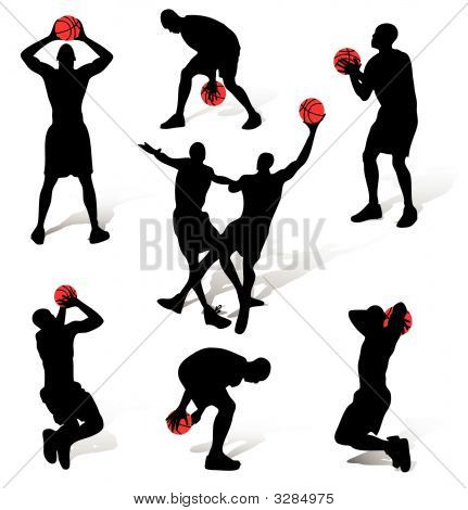 Basketball People Silhouettes