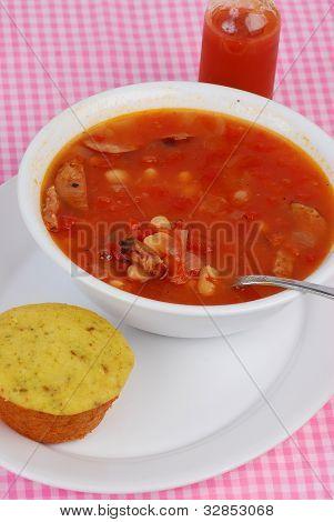 Cajun Soup And Cornbread