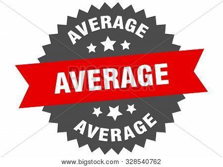 Average Sign. Average Red-black Circular Band Label