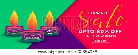 Happy Diwali Creative Sale And Offers Banner Template