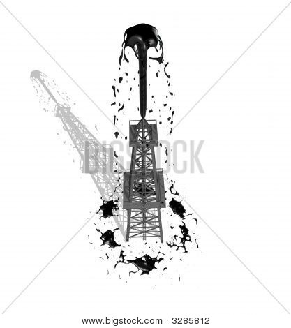 Oil Derrick 1 With Shadow
