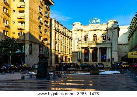 Bucharest City Tour - Odeon Theater (teatrul Odeon Bucuresti) In Bucharest, Romania, 2019