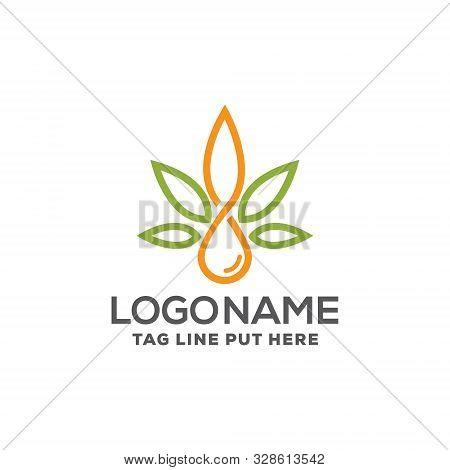 Creative & Modern Cbd Oil Logo Design Template For Medical-health Business/company Purpose Ready To