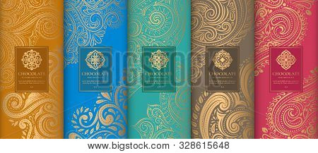 Luxury Packaging Design Of Chocolate Bars. Vintage Vector Ornament Template. Elegant, Classic Elemen